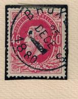 N° 34 Papier Mince Strié Couleur Aniline - 1869-1883 Leopold II.