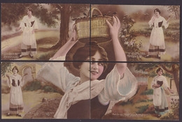 CPA Puzzle De 10 Cartes Mireille Provence Arles - Cartoline Con Meccanismi