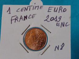 1 CENTIME EURO  FRANCE 2019 Unc - N 8  ( 2 Photos ) - France