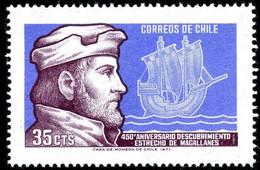 CHILI - 450éme Anniversaire De La Traversée Du Détroit De Magellan - Ships