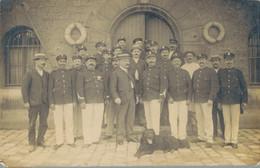 J109 - MILITARIA - Carte Photo - Ceux De La Brigade Fluviale??? à Paris - Regiments