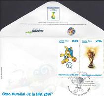 COSTA RICA WORLD CUP FIFA 2014,COPA MUNDIAL De La FIFA 2014 Sc 661 FDC - Costa Rica