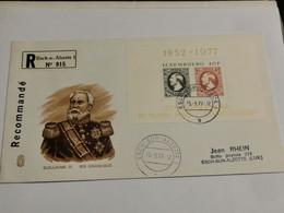 Enveloppe. Oblitéré Esch-Alzette 1977 Recommandé - Lettres & Documents