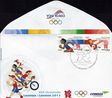 COSTA RICA XXX OLYMPICS LONDON Sc 649 FDC 2012 - Costa Rica