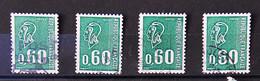 France 1974 - Marianne De BEQUET Taille Douce N° 1815 - Lot De 4 Timbres - 1971-76 Marianne Of Béquet