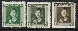 Yugoslavia 1935 MNH King Peter II Essays - Imperforates, Proofs & Errors