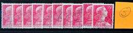 France 1955 - Marianne De MULLER N°1011 - Lot De 10 Timbres - 1955- Marianne Of Muller