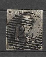 OBP1 Met 4 Randen (bovenaan Nipt) En Balkstempel P25 Charleroi - 1849 Epaulettes