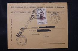 """MADAGASCAR - Oblitération """" Centre Telecom De Tananarive """" Sur Enveloppe PTT En 1953 Pour La France Par Avion - L 75850 - Briefe U. Dokumente"""