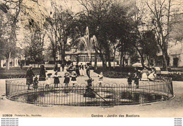 SUISSE GE GENÈVE Jardin Des Bastions  .......... Carte Peu Courante - GE Genf