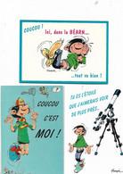 Lot De 3 Cartes Lagaffe - Humour