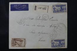 CÔTE D'IVOIRE - Enveloppe En Recommandé De Abidjan Pour La France En 1940 Avec Cachets De Contrôle - L 75859 - Briefe U. Dokumente