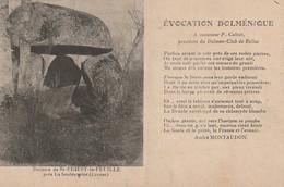 XU 20-(23) DOLMEN DE ST PRIEST LA FEUILLE PRES LA SOUTERRAINE - EVOCATION DOLMENIQUE PAR A. MONTAUDON - 2 SCANS - Non Classificati