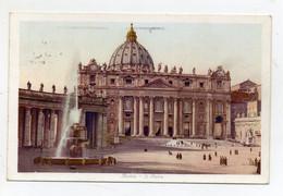 Roma - S. Pietro - Bel Timbro A Targhetta - Viaggiata Nel 1938 - (FDC25950) - San Pietro