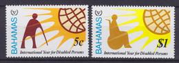 Bahamas 1981 Mi. 474-75 Jahr Der Behinderten Disabled Persons Rollenstuhlfahrer Wheel Chair Complete Set MNH** - Bahamas (1973-...)