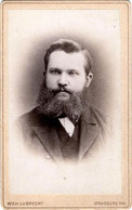 Tirage Photo Albuminé Catonné Original - CDV - Gotfried Edward Knopf Par Wilh. Lubrecht De Strasburg W/PR Vers 1880 - Ancianas (antes De 1900)