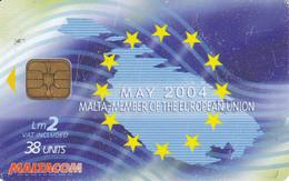 Nº281  TARJETA DE MALTA  DE MEMBER EUROPEAN UNION - Malta