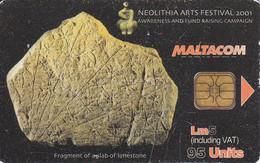 TARJETA DE MALTA DE NEOLITHIA ARTS FESTIVAL 2001 DE  5 LM - Malta