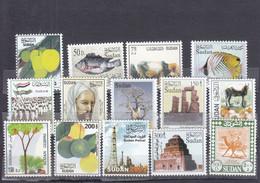 Stamps SUDAN 2003 DEFINITIVE 9TH PERMANENT SC-544 557 MNH SET CV$35 #113 - Sudan (1954-...)