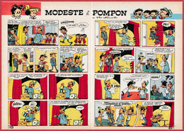 Modeste Et Pompon. Un Tour De Magie. Bande Dessinée 1966. Dessins Dino Attanasio, E Attanasio. Scénario Heys. - Historische Documenten