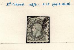 N° 35 2è Tirage (gris Noir) - 1869-1883 Leopold II.
