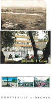 Lot 3 Cartes 1 CPSM 76 ORCHER Les Usines Et 2 CPM GONFREVILLE L'ORCHER Collège Courbet Espace Culturel - Other Municipalities