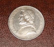 Monnaie En Argent Vatican PIE  IX 20 Baiocchi 1850 R - Vatican