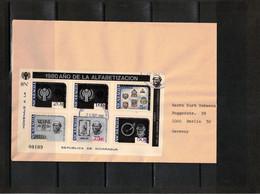 Nicaragua 1980 Philatelic Exhibition WIPA 81 Wien,Rowland Hill Block FDC - Philatelic Exhibitions