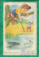 Qui Aura L'autre...? Pêche Brochet 2scans (envoyée Par Mlle Crommelinck 68 Route Ste-Thérèse à Roubaix 59) 1960 - Humor