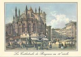 La Cathédrale De Bayonne Au 18è Siècle - Vieille Gravure - Bayonne
