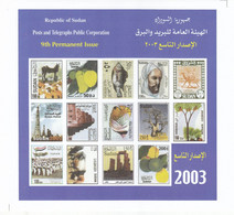Stamps SUDAN 2003 SOUVENIR SHEET SC-544 557 MNH S/S CV$35 #119 - Soudan (1954-...)