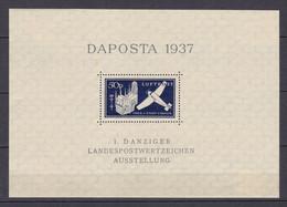 Danzig - 1937 - Michel Nr. Block 2 - Ungebr. - Danzig