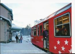74 Les Bossons Commune De Chamonix Train Ligne St Gervais Martigny , Cpm Neuve , Photo Originale, Dos Divisé Vierge - Chamonix-Mont-Blanc