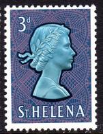 ST HELENA - 1961-1965 QEII DEFINITIVE 1965 3d STAMP CHALK PAPER FINE MNH ** SG 179a - St. Helena
