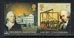 GREAT BRITAIN M056 - 2009 Pioneers Of The Industrial Revolution Used Pair - Usati
