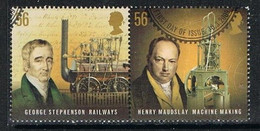 GREAT BRITAIN M058 - 2009 Pioneers Of The Industrial Revolution Used Pair - Usati