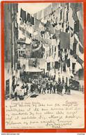 It001, * GENOVA * TRUOGOLI DI SANTA BRIGIDA * SENT TO DK 1908 With AMERICAN STAMP - Genova (Genoa)
