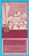 SIBENIK Croatia Old Art Deco Tourist Brochure 1930's * Rogoznica Filipjakov Biograd Iz Veli Sali Bozava Preko Silba Ist - Tourism Brochures