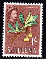 ST HELENA - 1961 QEII DEFINITIVE 1/- STAMP FINE MNH ** SG 184 - St. Helena