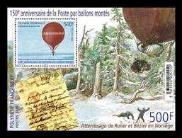 French Polynesia 2020 Mih. 1438 (Bl.54) Aviation. Balloon Mail MNH ** - Nuovi