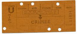 METRO PARISIEN // CARTE HEBDOMADAIRE // STATION CRIMEE - Europa