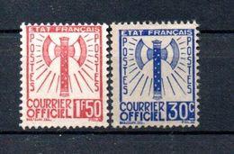 J1-2 France Service N° 2 Et  8 NSG à 10% De La Côte (des Oblitérés) !!! - Mint/Hinged