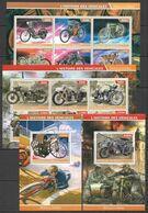 PE1115-16 2015 TRANSPORT HISTORY MOTORCYCLES !!! 2BL+2KB MNH - Motorbikes
