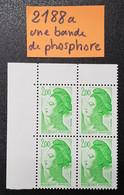 Lot Type Liberté  N° 2188a (Une Bande De Phosphore)  Neuf ** En Bloc De 4  TTB - 1982-90 Liberty Of Gandon