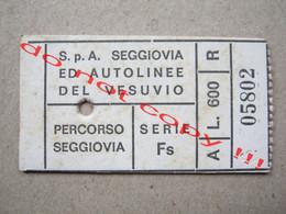 S. P. A. SEGGIOVIA ED AUTOLINEE DEL VESUVIO SERIE Fs ( 26-8-967 ) - Europa