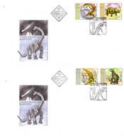BULGARIA 2003 Prehistoric Animals FDC 2 Covers - Vor- U. Frühgeschichte
