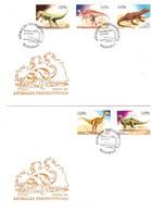 CUBA 1999 Prehistoric Animals FDC 2 Covers - Vor- U. Frühgeschichte