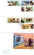 CUBA 2002 Prehistoric Animals FDC 3 Covers - Vor- U. Frühgeschichte