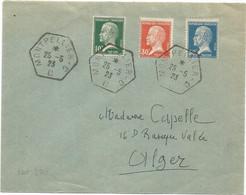 PASTEUR 10C+30C+50C LETTRE C. HEX MONTPELLIER 25.5.1923 CC 1ER JOUR DES TIMBRES - 1922-26 Pasteur