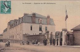 LE CREUSOT(CASERNE) CARTE EN COULEUR TOILEE - Le Creusot